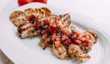 Grilled Chicken Topped with Bruschetta