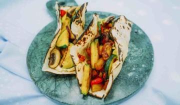 Grilled Vegetable Hummus Wraps