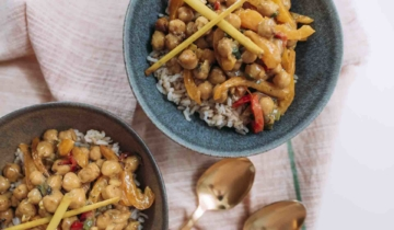 Lemongrass Chickpea Coconut Curry