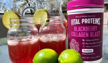 Blackberry Collagen Blast Summer Drink