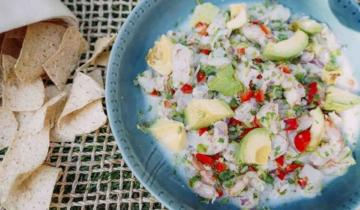 Cilantro Shrimp Coconut Ceviche