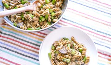 Asparagus Mushroom Summer Pasta