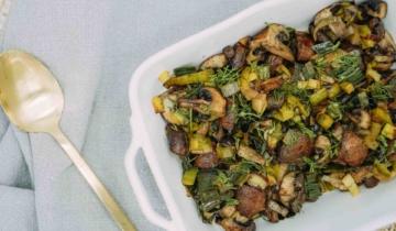 Roasted Mushroom Zucchini and Leek