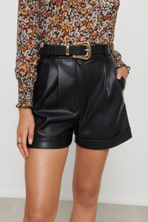 Shorts Faux Leather